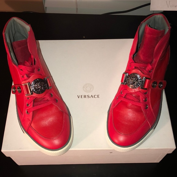 Shoes   Versace Red Sneakers   Poshmark